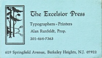 Excelsior Press business card