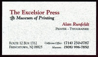 Excelsior Press Museum card circa